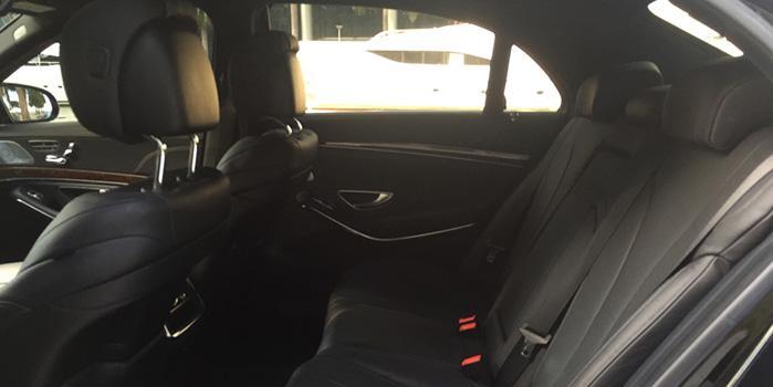 Mercedes Benz S550 Car Rental (Interior)