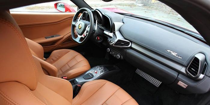 Ferrari 458 Italia Rental (Interior)