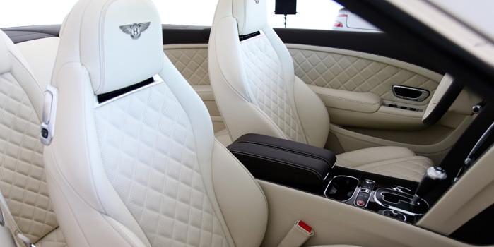 Global Limo Bentley Continental GTC White Rental (Interior)