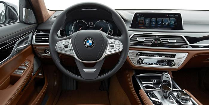 BMW 750 Li Car Rental (Interior)