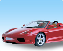 Ferrari 360 Spider Rental